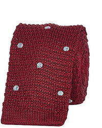 River Island Red Polka Dot Knitted Tie