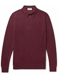 Burgundy Polo Neck Sweater