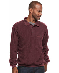 Big Tall Safe Harbor Classic Fit Banded Bottom Polo