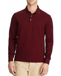 Polo Ralph Lauren Classic Fit Stretch Mesh Long Sleeve Polo Shirt