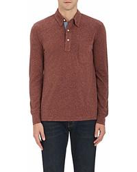 Faherty Heathered Cotton Blend Polo Shirt