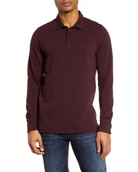 TravisMathew Kawloon Regular Fit Long Sleeve Polo Shirt