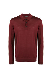 Roberto Collina Long Sleeve Polo Shirt