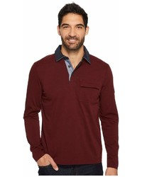 Nautica Long Sleeve Shipman Polo W Pocket