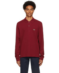 Lacoste Red Classic Piqu Long Sleeve Polo