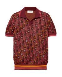 Wales Bonner Cotton Blend Jacquard Polo Shirt