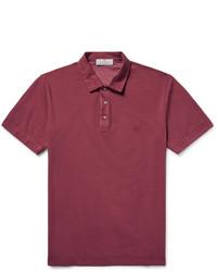 Canali Stretch Cotton Piqu Polo Shirt