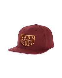 Vans Evers Snapback Baseball Cap