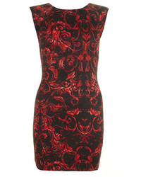 AX Paris Red Printed Bodycon Dress