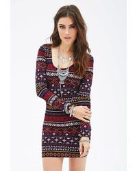 Tribal print bodycon dress medium 146078