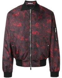 Christian Dior Dior Homme Abstract Print Bomber Jacket