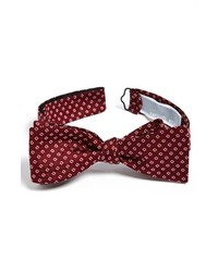 Michael Kors Michl Kors Silk Bow Tie Burgundy Regular