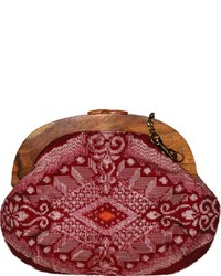 Kimono textile crossbody bag burgundy medium 130927
