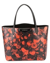 Givenchy Antigona Large Rose Print Tote Bag