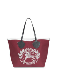 Burberry The Giant Tote In Archive Logo Cotton