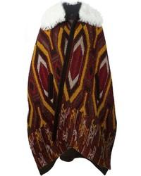 Chloé Intarsia Knit Oversized Cape