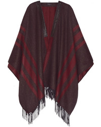 Etro Leather Trimmed Cashmere Cape