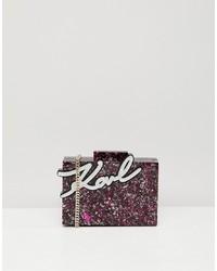 Karl Lagerfeld Glitter Shine Minaudiere Box Bag