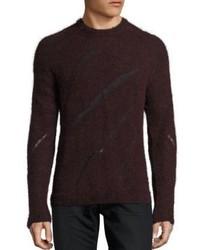 Distressed intarsia sweater medium 955906