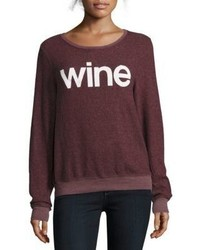 Wildfox Couture Heathered Long Sleeve Sweatshirt
