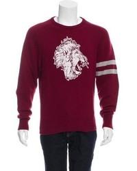 Michael Bastian Michl Bastian Lion Print Cashmere Sweater W Tags
