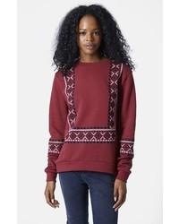 Topshop Embroidered Sweatshirt