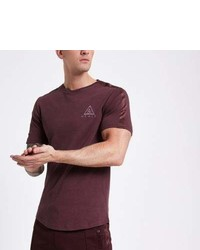 River Island Burgundy Concept Mcmlx Slim Fit T Shirt