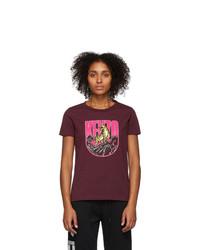 Kenzo Burgundy Logo Tiger Mountain T Shirt