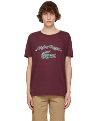 Lacoste Burgundy Ricky Regal Edition Loose Neck T Shirt