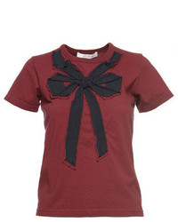 Contemporary Small Folded Bow Cotton Tee