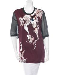 3.1 Phillip Lim Embellished Silk Paneled T Shirt W Tags