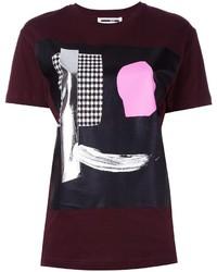 McQ by Alexander McQueen Mcq Alexander Mcqueen Abstract Face Print T Shirt