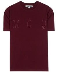 McQ by Alexander McQueen Mcq Alexander Mcqueen Embroidered Cotton T Shirt