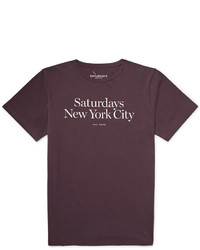 Saturdays Nyc Miller Standard Printed Cotton Jersey T Shirt
