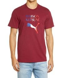Puma X Maison Kitsune Oversize Logo Tee