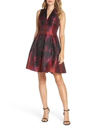 Vince Camuto Jacquard Fit Flare Dress