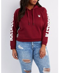 Charlotte russe plus size brooklyn cropped hoodie medium 1316280