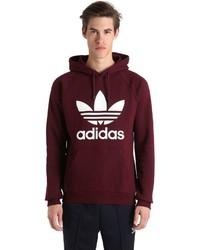 adidas Trefoil Printed Hooded Cotton Sweatshirt