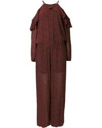 MICHAEL Michael Kors Michl Michl Kors Off Shoulder Printed Jumpsuit