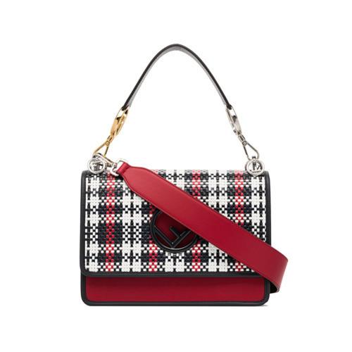 ... Crossbody Bags Fendi Kan I F Woven Leather Shoulder Bag ... c6a87e524f2bd