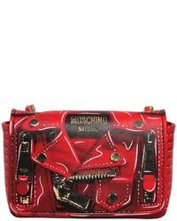 Moschino Biker Printed Leather Shoulder Bag