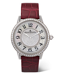 Jaeger-LeCoultre Rendez Vous Night Day Ivy 34mm 18 Karat White Gold Alligator And Diamond Watch