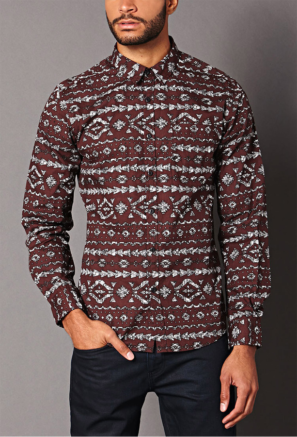 21men 21 Classic Fit Tribal Print Shirt | Where to buy & how to wear