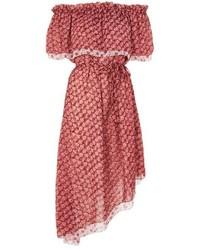 Topshop Print Bardot Dress