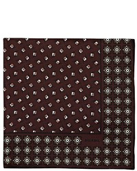 Prada Geometric Print Silk Pocket Square