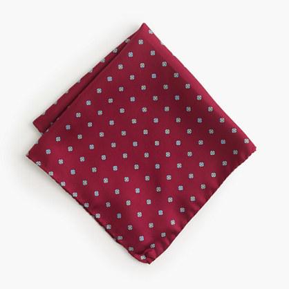 J.Crew Italian Silk Pocket Square In Vintage Foulard