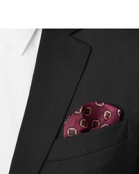 Dunhill Medallion Print Mulberry Silk Twill Pocket Square