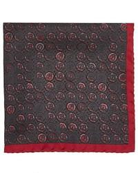 Prada Medallion Print Silk Twill Pocket Square