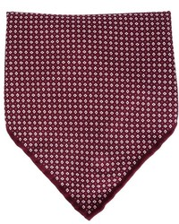 Brunello Cucinelli Tiny Diamond Print Pocket Square