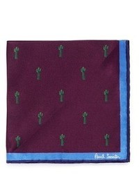 Paul Smith X Gufram Cactus Print Pocket Square